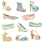 Обувки с пастелни цветове