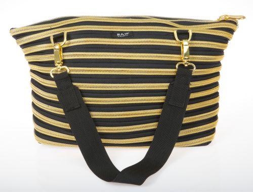 Чанта с черно и златно