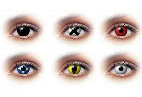 Цветни лещи с различни форми