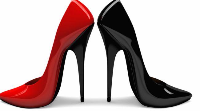 Обувки с високи токчета