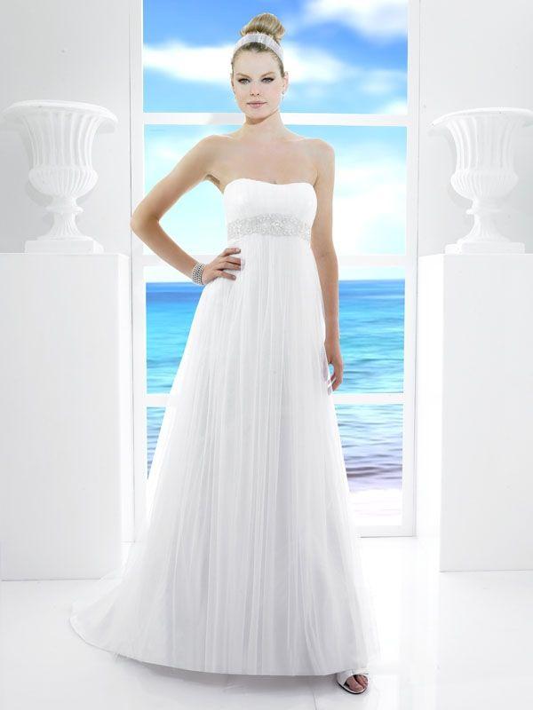 Сватбена рокля с висока талия