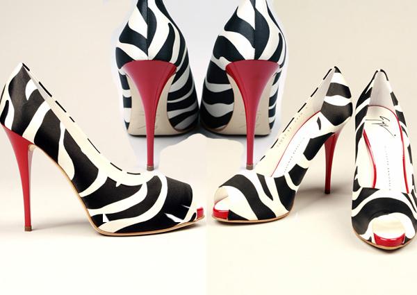 черно бели обувки
