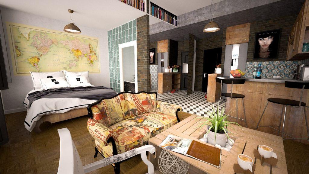 спалня с дневен кът
